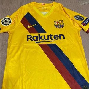 Messi barcelona yellow jersey